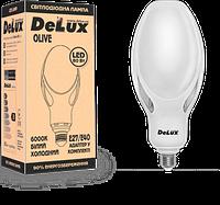 Лампа светодиодная OLIVE 60W E27 6000К 5400 Lm мощная Delux, промышленная