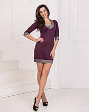 Платье мини, №93, марсала.