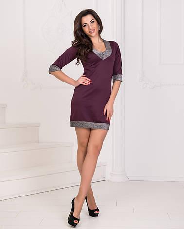 Платье мини марсала, фото 2