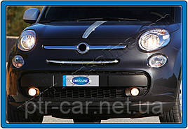 Накладки на решетку (popstar, нерж.) - Fiat 500/500L