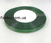 """Блестящая лента""""парча"""",цвет зеленый с золотым краем(ширина0.5см)1 рулон-25 ярдов=22м, фото 1"""