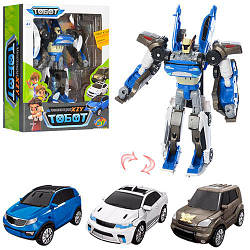 Трансформер ТоботTB1886 тритан, трансформация в три разные машинки18 см, 3 в 1
