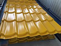 Металлочерепица монтеррей RAL 1003  (Желтая) глянец