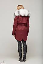 Зимняя Парка с мехом Бордовая , фото 3