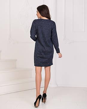 Платье ангора тёмно-синее, фото 2