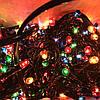 Новогодняя гирлянда 8м, 300LЕD разноцветная, черный провод