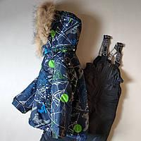 """Зимний детский термо комбинезон раздельный для мальчиков на 1-4 года """"Сноубордист"""""""