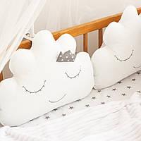 "Защита в детскую кроватку ""Тучки-подушки"", М-01, фото 1"