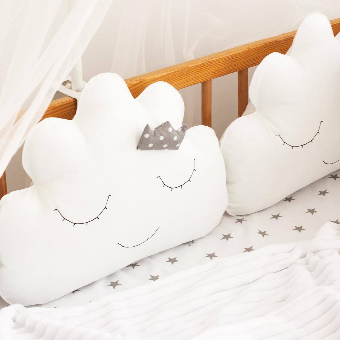 """Защита в детскую кроватку """"Тучки-подушки"""", М-01"""