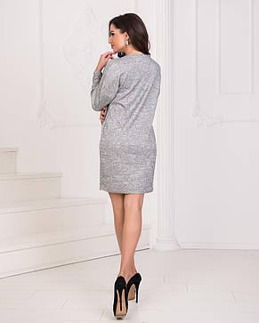 Платье ангора серое, фото 2