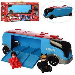 """Трейлер 553-146 LDC """"Леді Баг і Леді Кіт"""" 39див транспорт з фігуркою 2шт, 7см, в кор-ке, 51-23-12,5 см"""