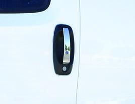 Хром на ручки (4 накладки, нерж.) - Fiat Fiorino/Qubo 2008+ гг.