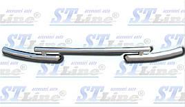 Передняя защита ST009 (нерж.) - Fiat Fiorino/Qubo 2008+ гг.