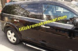 Окантовка стекол (6 шт, нерж) - Fiat Freemont