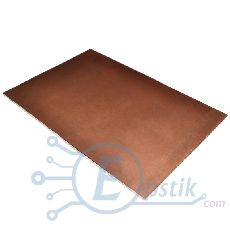 Склотекстоліт фольгований двосторонній, 100х150мм., товщина 1.5 мм.