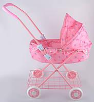 Коляска для куклы цвет розовый YNA