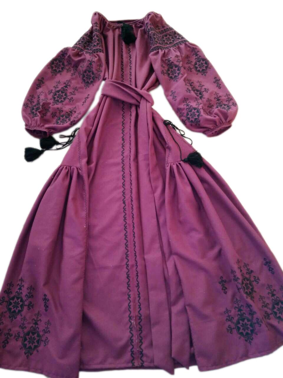 "Жіноче вишите плаття ""Агата"" (Женское вышитое платье ""Агата"") PU-0030"
