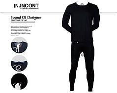 """Чоловічий комплект термобілизни штани і кофта чорний Марка """"INCONT"""" Арт.3831"""
