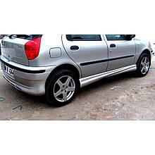 Боковые пороги (под покраску) - Fiat Palio 1998+ гг.