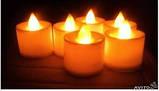 Набір електронних свічок, колір тепло-білий, набір 24 шт, фото 2