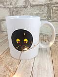Чашка хамелеон Смайл 380 мл белая ( Оригинальный подарок ), фото 3