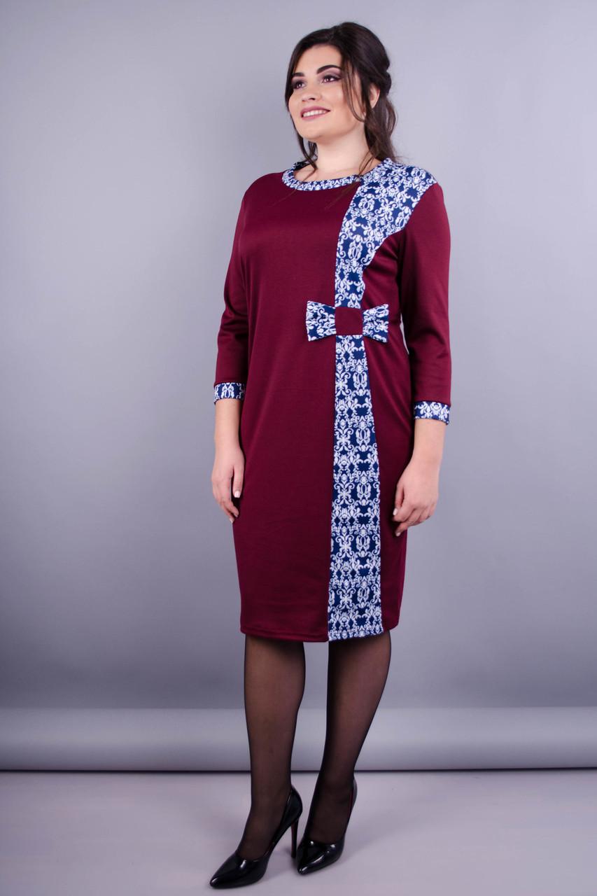 033e6c6c9e9 Монако. Красивое Платье Плюс Сайз. Бордо+орнамент. — в Категории ...