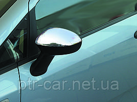 Накладки на зеркала (2 шт, нерж.) - Fiat Punto Grande/EVO 2006+ и 2011+ гг.