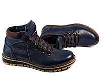 25a85da187c8 Мужские зимние ботинки Multi-Shoes Boomer синие, из натуральной кожи на  натуральной шерсти
