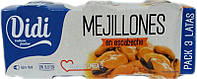 Мидии Didi Mejillones en escabeche 3x80 гр