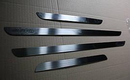 Накладки на пороги (4 шт, нерж.) - Fiat Stilo 2001-2007 гг.