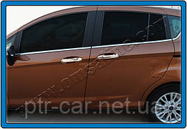Накладки на ручки (4 шт, нерж.) - Ford B-Max 2012+ гг.