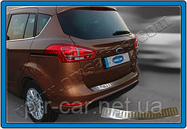 Накладка на задній бампер OmsaLine (нерж.) - Ford B-Max 2012+ рр.