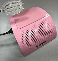 Пылеуловитель большой, пылесос для маникюра, вытяжка для маникюра Simei на два вентилятора с таймером и лампой