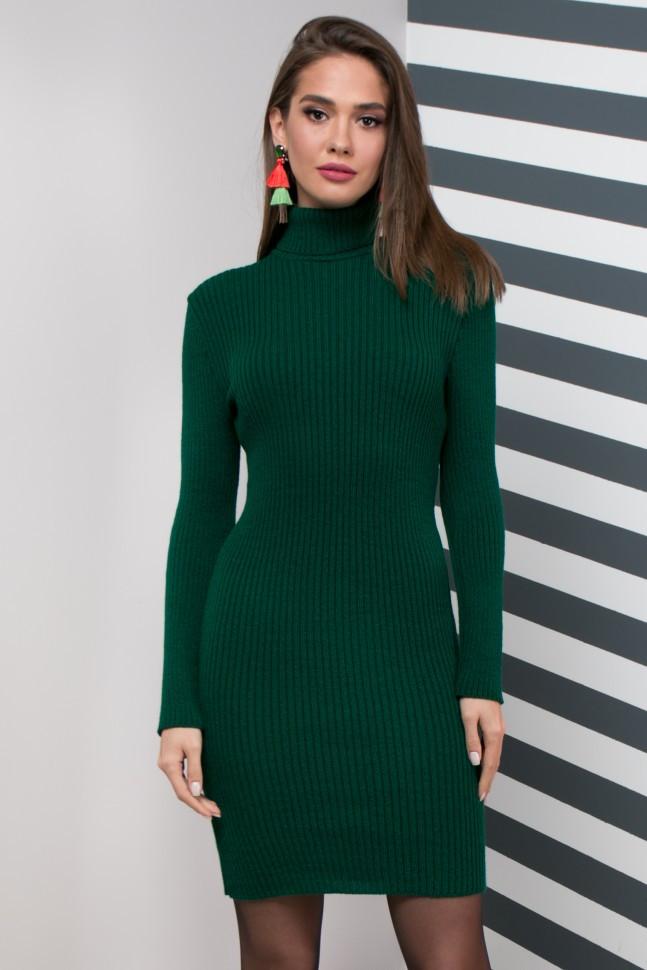 Вязаное платье для офиса, 44-48