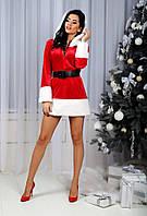 Женский новогодний костюм Санта Клаус (Снегурочка) 1370