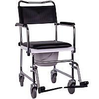 Стул-туалет инвалидный на колесах модель OSD-JBS367A, фото 1