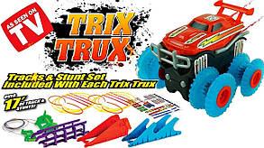 Машинка монстр-трак Trix Trux, машинка на мотузках, трек машинка Трікс Тракс, канатний трек