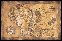 Карта Средиземья 915 х 610 мм