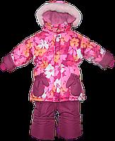 Детский зимний термокомбинезон р. 98 штаны и куртка на флисе иотстегивающейся овчине 2595