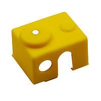 3шт Желтый универсальный Hotend Блок Изоляция Носок Силиконовый Чехол Для 3D-принтера - 1TopShop