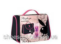 Женский подарочный набор Playboy PLAY IT SEXY в косметичке туалетная вода, гель для душа
