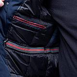 Чоловіча зимова куртка великого розміру, синього кольору., фото 5