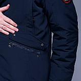 Чоловіча зимова куртка великого розміру, синього кольору., фото 6