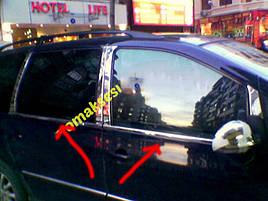 Окантовка стекол (4 шт, нерж) - Ford Galaxy 1995-2010 гг.