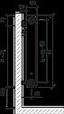 Стальной (панельный) радиатор PURMO Ventil Compact т11 500x1400 нижнее подключение, фото 4
