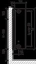 Стальной (панельный) радиатор PURMO Compact т33 600x1000 боковое подключение, фото 2