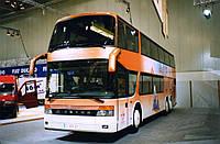 Лобовое стекло автобуса Setra S 228/328 DT верхнее