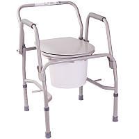 Стул-туалет инвалидный с откидными подлокотниками OSD-RPM-68680D