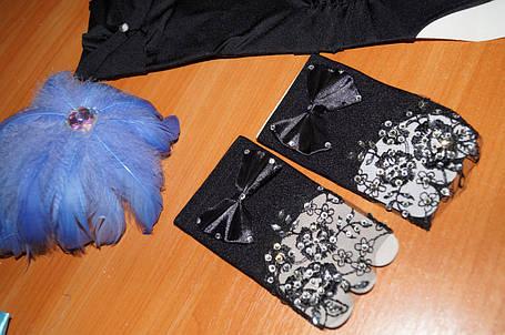 Короткі рукавички чорні, фото 2