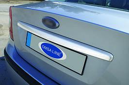 Накладка на кришку багажника (SEDAN, нерж.) - Ford Focus II 2008-2011 рр.